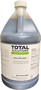 Total Solutions Chelated Iron (1 Gallon) | Liquid Mineral Supplement Used to Prevent or Cure Iron Chlorosis in Turf, Ornamental shrubs, and Trees.