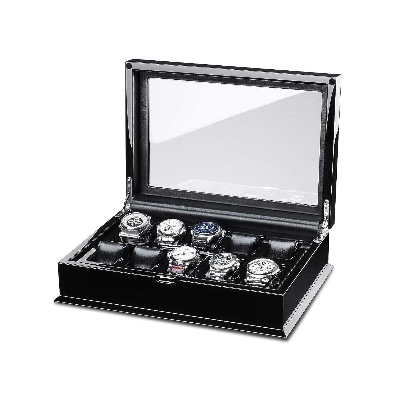 Hermann JÄckle Villingen Uhrenbox fÜr 10 Uhren mit Glasfenster - schwarz