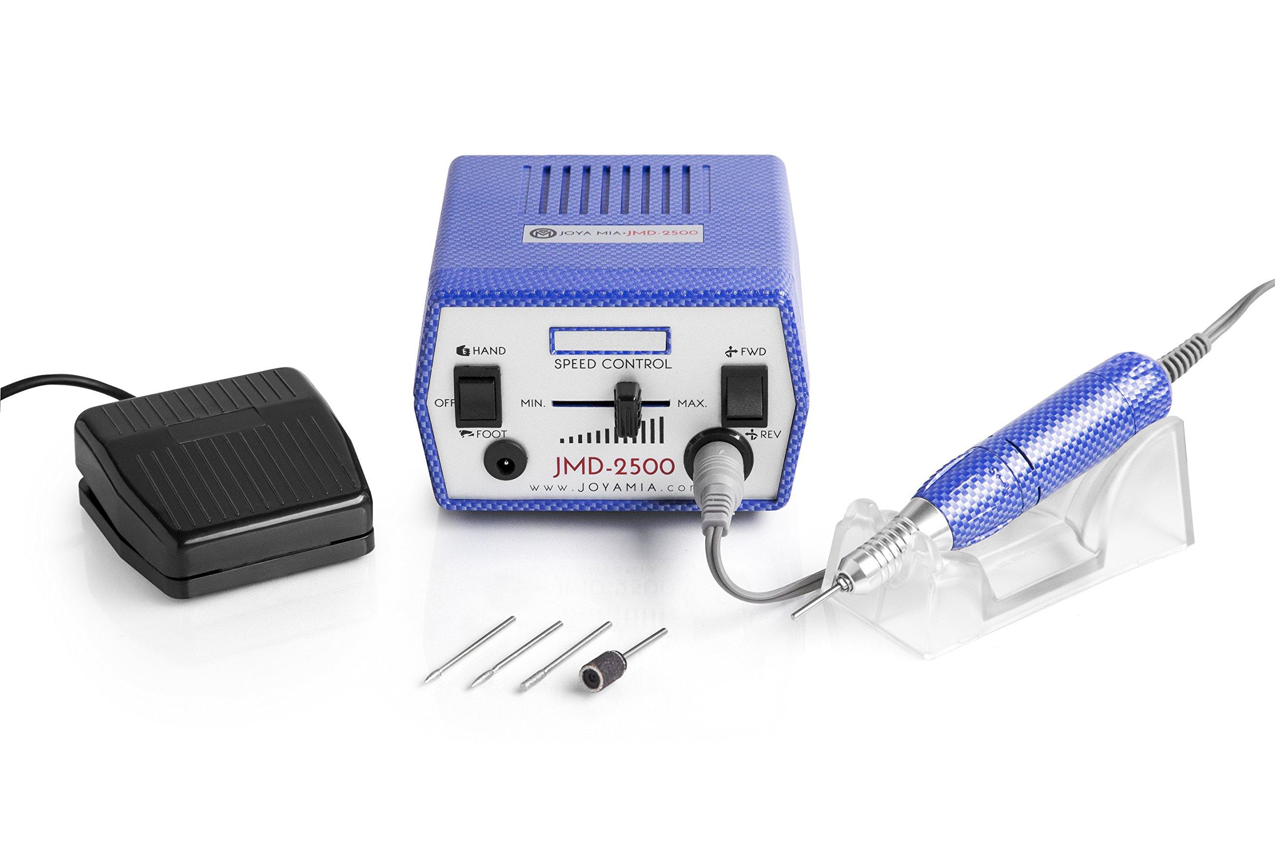 JOYA MIA JMD2500 Electric Nail Drill Manicure Pedicure Electric Nail E-File, 30,000 RPM, Blue