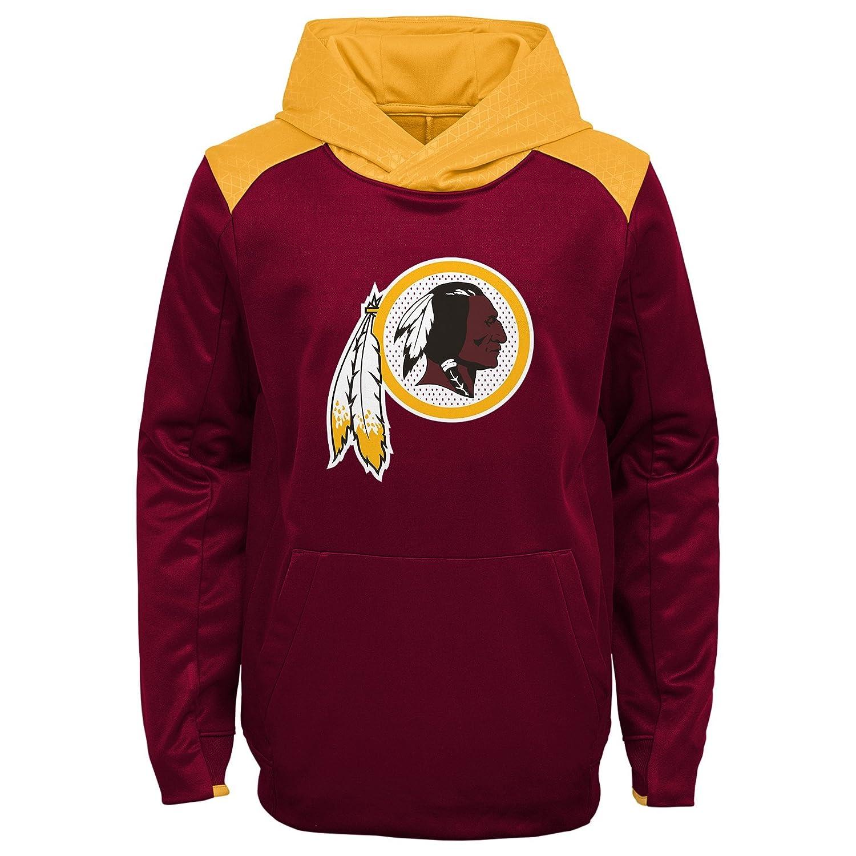 Team Color Kids Medium 5-6 NFL Washington Redskins 4-7 Outerstuff Off The Grid Performance Pullover Hoodie