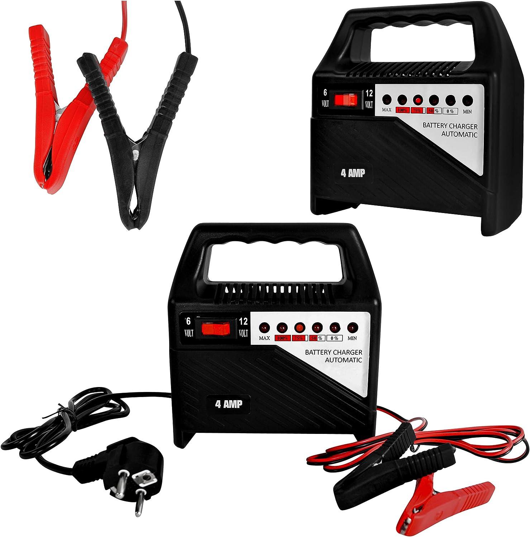 Chargeur de Batterie Intelligent 6V//12V 4A 9634