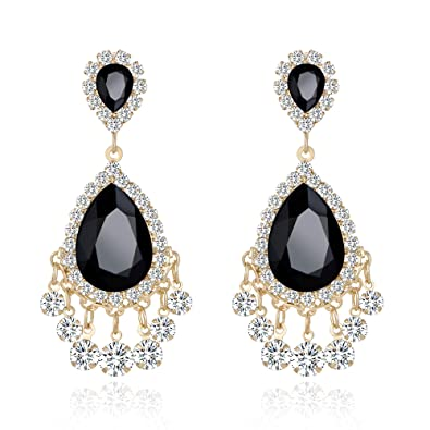 Amazon Lianjie Rhinestone Crystal Drop Earrings For Women Girls