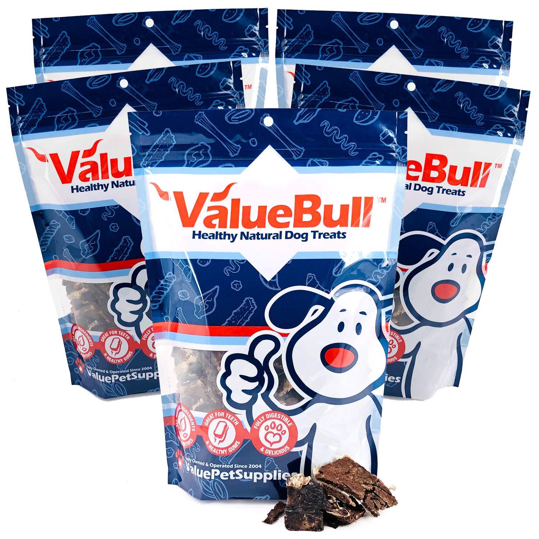 ValueBull USA Beef Jerky Bites Dog Treats, 1 Pound, 5 Pack