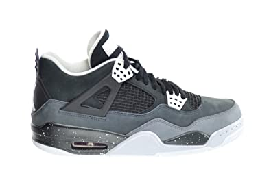 60fa17546aad Jordan Air 4 Retro Men s Basketball Shoes Black White-Cool Grey-Pure  Platinum