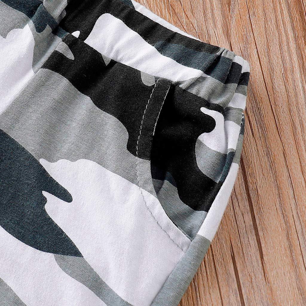 Shenye Infant Baby Boy Kid Summer Sleeveless Letter Printed Vest Tops+Camouflage Shorts 2pcs Outfits Set