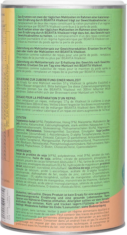 BEAVITA Vitalkost sabor cookies & cream   572g   208 kcal en cada porción   Fácil Preparación   Sin gluten o conservantes   Suplemento con proteína, ...