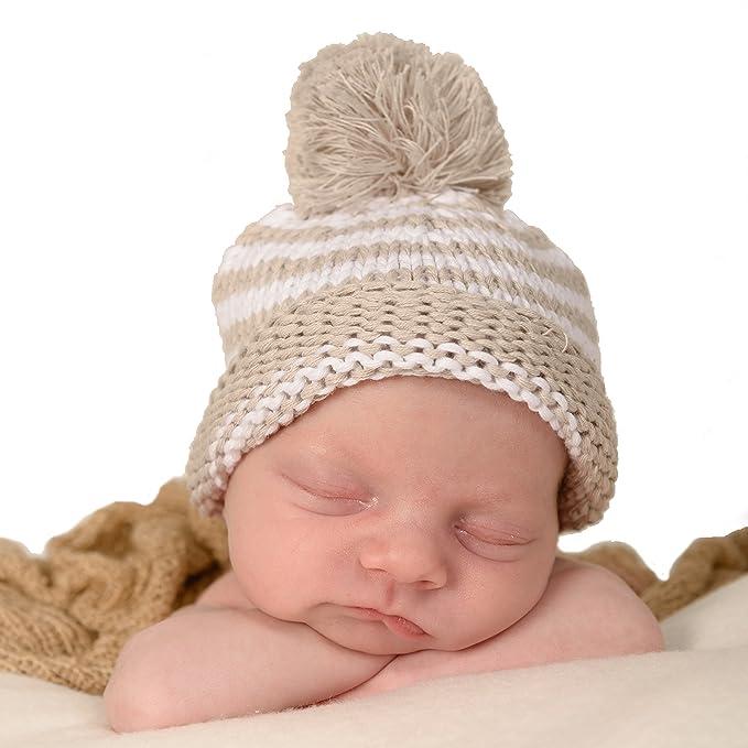 b4f0d9227ff Amazon.com  Huggalugs Baby Pom Pom Newborn Girl or Boy Birch Grey ...