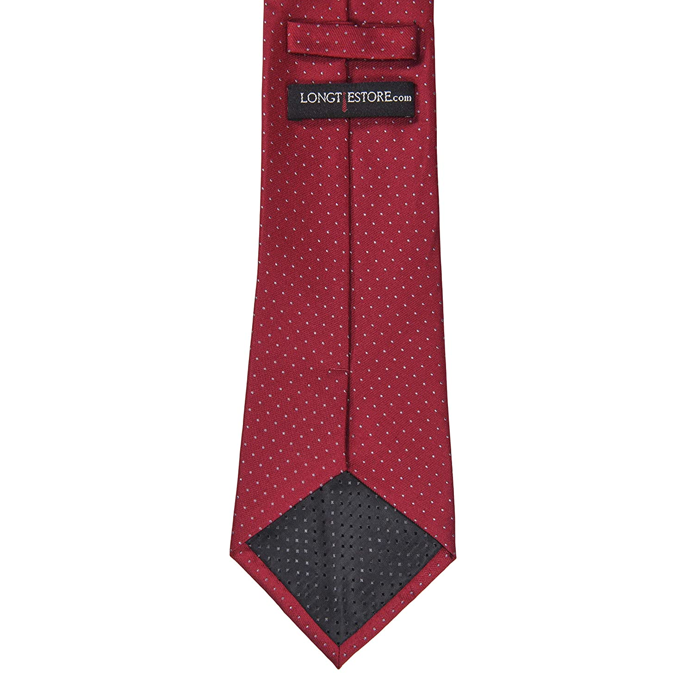 Corbata de seda 100% con tapa, diseño de lunares (disponible en 63 ...
