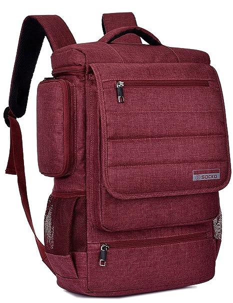 ededebe9df5a SOCKO Laptop Backpack 17.3 Inch Multifunctional Unisex Luggage Travel Bag  Knapsack Water Resistant Rucksack Backpack Hiking