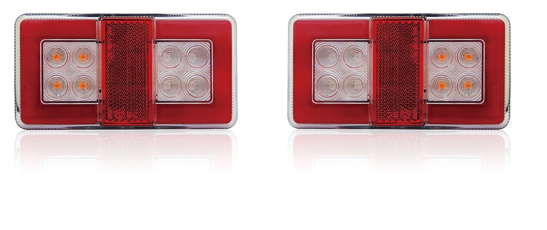 Ein Satz von 2 Stück LED-Rückleuchten für LKW PKW Anhänger Wohnmobil ...