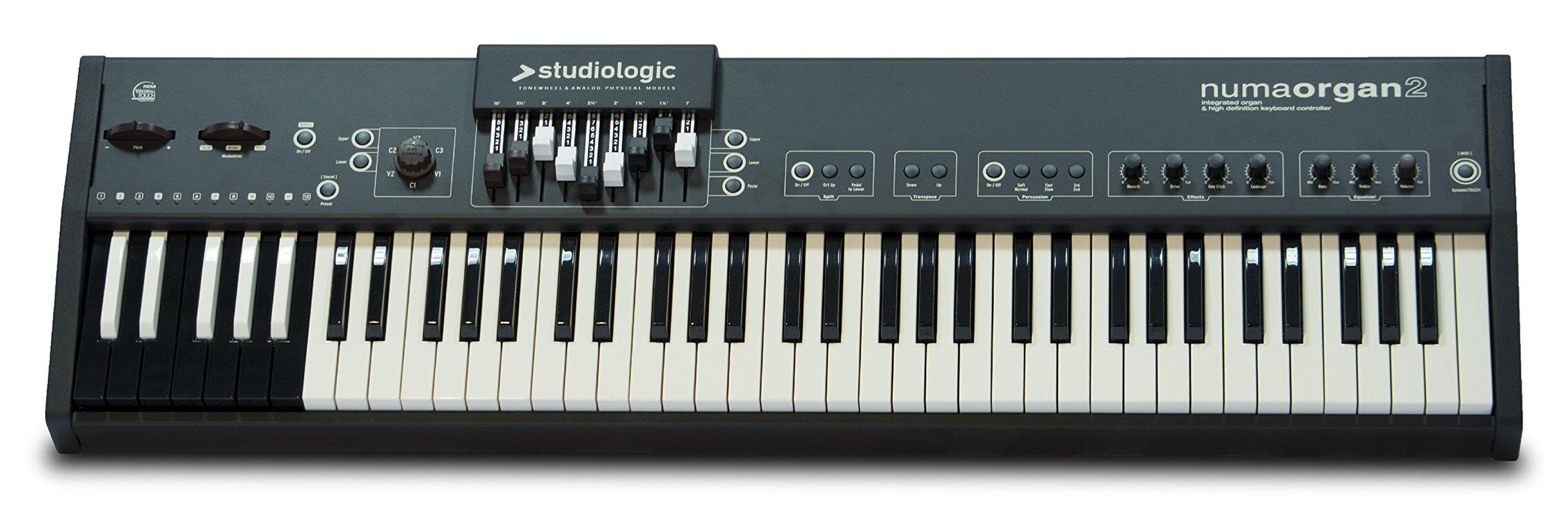 Studiologic NUMA-ORGAN-2 73-Key Integrated Digital Organ with Reversed Octave Midi Controller by Studiologic