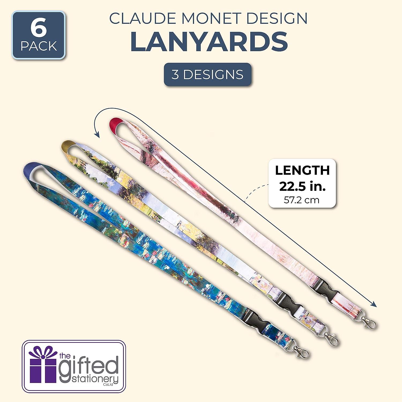 6 Pack Monet Designs Neck Lanyard Keychain Holder with Clip