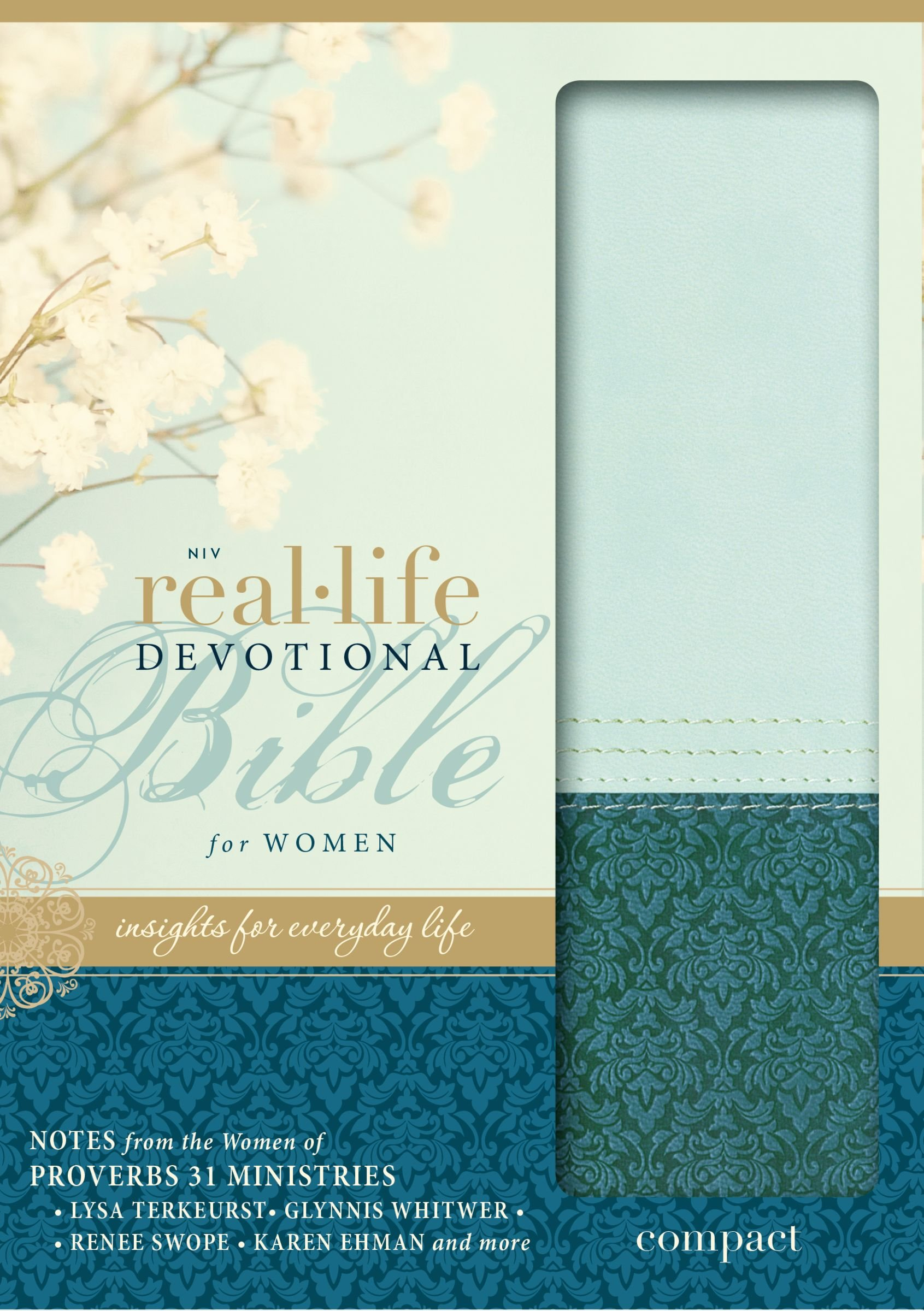 niv real life devotional bible for women compact leathersoft