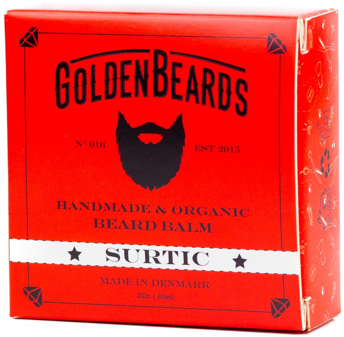 Bio Beard Balm -SURTIC - 60ML - 100% Beard Balm Natural -Golden Beards- We produce Beard Balm Strong Hold - The ideal Beard Balm for men scented and long beards - Get our Premium Beard Balm