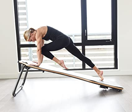 Juvo Board - Balance Board - Slant Board for Yoga, Pilates, Stand Up Paddle, Surf Training & Balance Training with Workout Videos Included