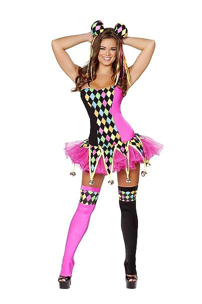 Amazon.com: 3 piezas Court Jester circo payaso traje de Body ...