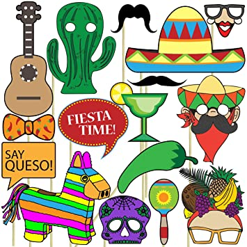 Amazoncom Fiesta Photo Props 32 Pieces For Photo Booths Selfies