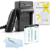 Battery And Charger Kit For Nikon COOLPIX S2800, S3700, S2900, S33, S7000, S6900, S3500, S3300, S6400, W100, A300 Digital Camera Includes Extended Replacement EN-EL19 Battery + Ac/Dc Charger + More