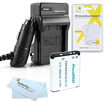 Amazon.com: Kit de Cargador para Batería y para Nikon ...