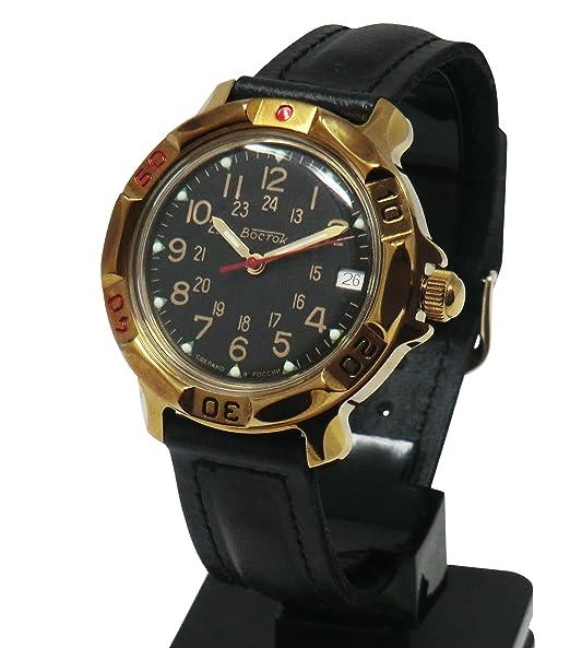 """Cucuba® - Reloj de pulsera """"Vostok"""", movimiento mecánico, fabricación rusa"""