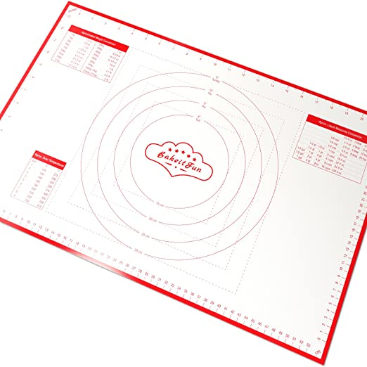 Paquete de 3 Tama/ños Tapete de silicona para hornear sin BPA Facil Reutilizable Juego de alfombrillas para bandeja antiadherente resistente al calor certificado FDA y LFGB