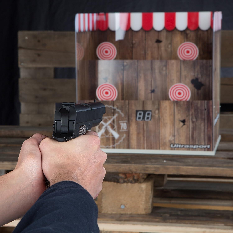 diana para m/áx 0,5 joules para airsoft tambi/én apto para ni/ños puesto de tiro disponible en 2 dise/ños Ultrasport Puesto de tiro airsoft electr/ónico: puesto de tiro con 3 modos electr/ónicos de tiro