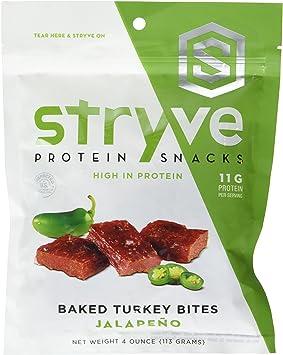 Stryve Foods - Pavo al horno picado de proteína jalapeño - 4 oz.