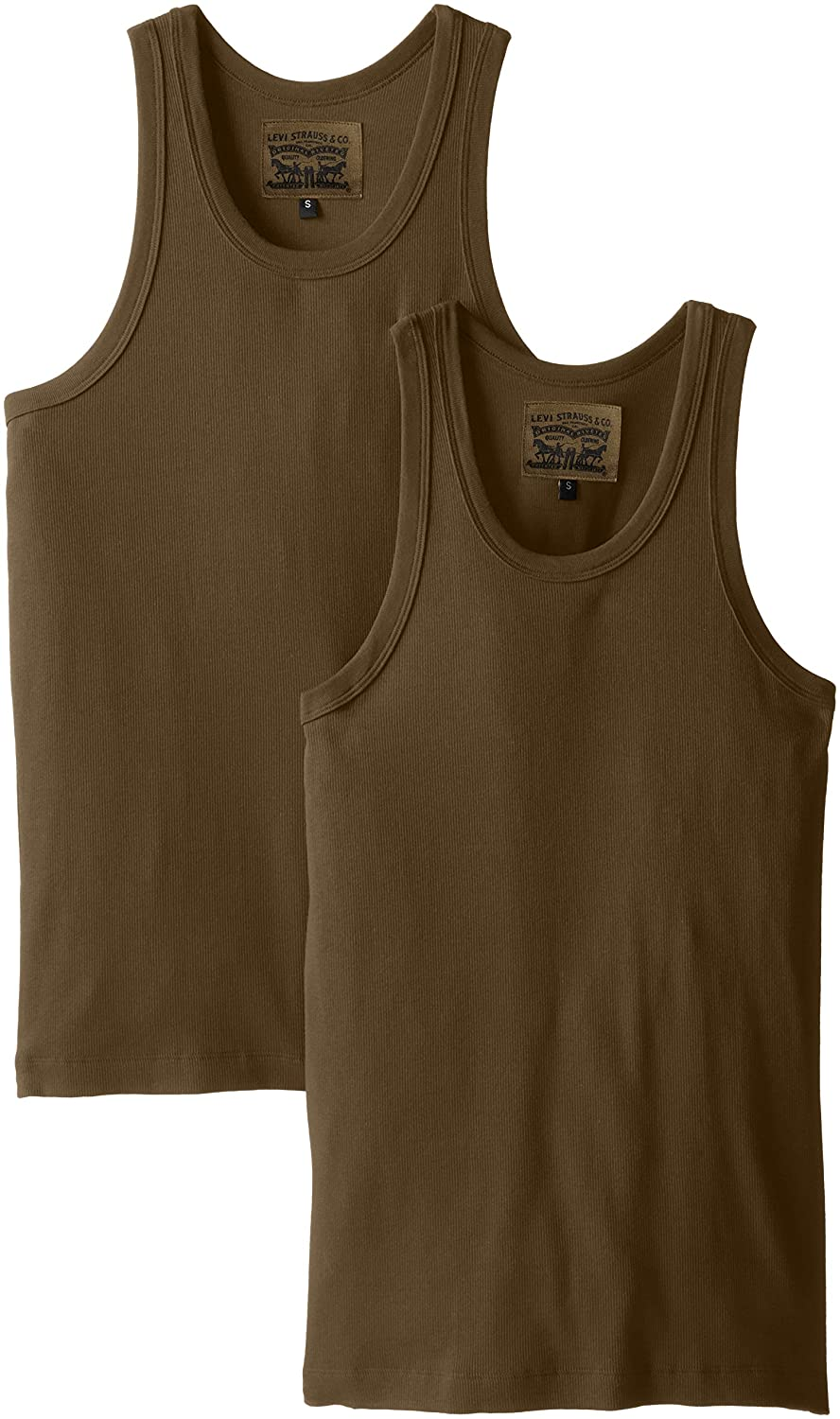 c52d90896a9eeb Levi s Men s 300 Series 2-Pack Cotton Ribbed Tank Top at Amazon Men s  Clothing store
