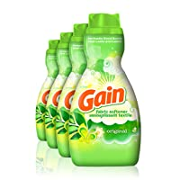 Deals on 4-Count Gain Liquid Fabric Softener Original 41-Oz