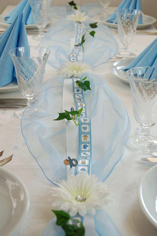 Fibula [Style] ® Komplettset Little Prince Größe M Tischdekoration für Taufe-Geburt Junge für ca. 16 - 20 Personen