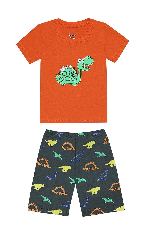 TinaLuLing 100 Cotton Summer Short Sleeve Boys Pajamas Children Dragon Pyjamas for 2 8Years