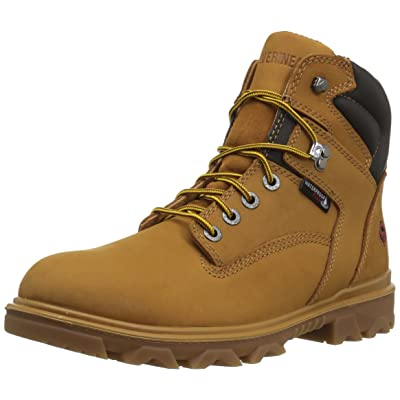 "Wolverine Men's I-90 Waterproof Soft-Toe 6"" Construction Boot 