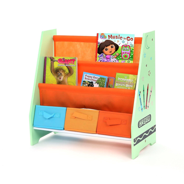 Toddler Size Bebe Style Kids Wooden Rack Sling Bookcase