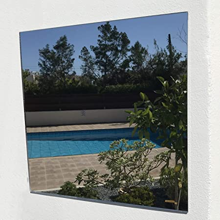 Servewell - Espejos Cuadrados para jardín, Plateado - Espejo, 45 cm: Amazon.es: Hogar