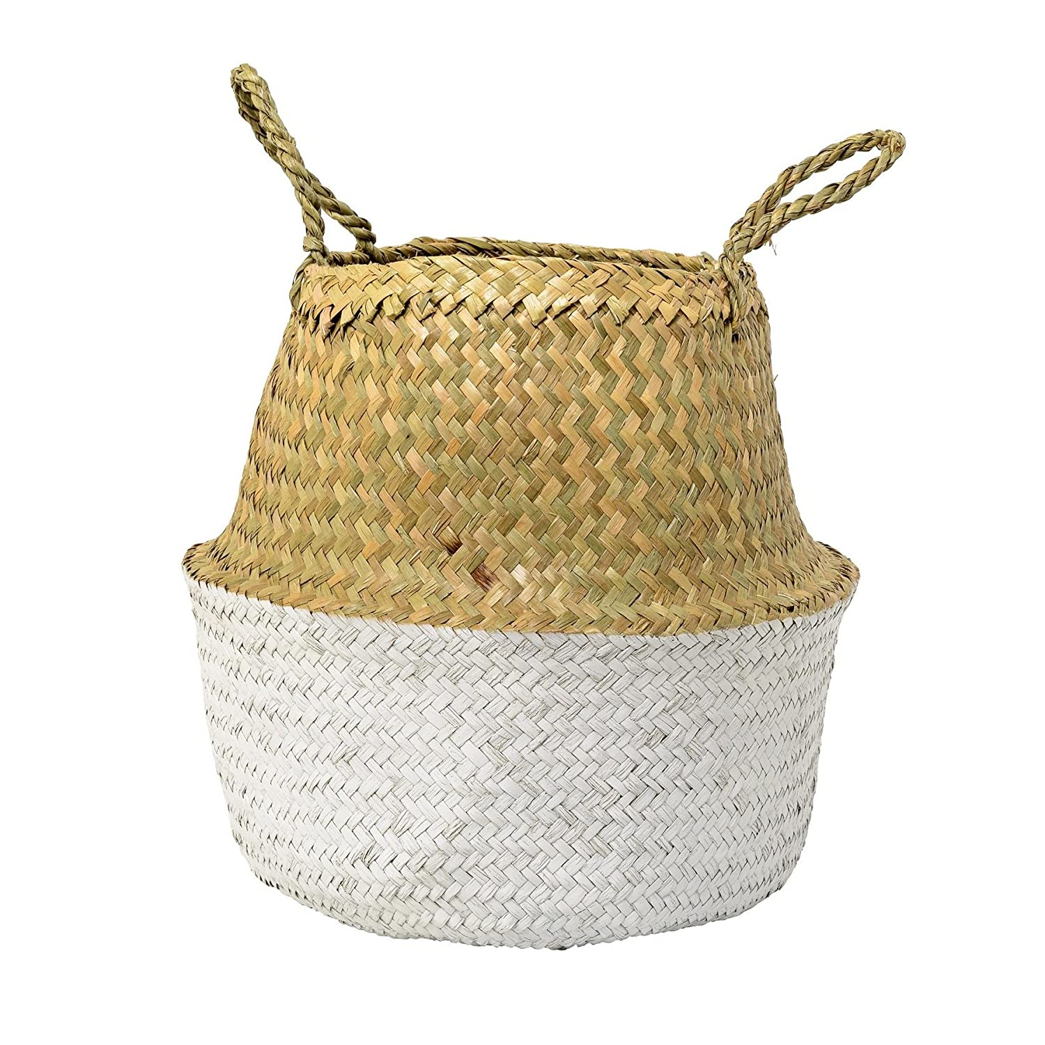 Bloomingville Beach Storage Basket natural/cool grey/Ø35xH32cm