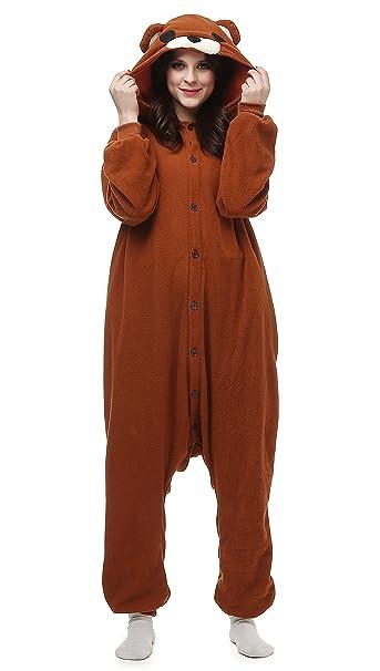 Unisex Animal Pijama Ropa de Dormir Cosplay Kigurumi Onesie Oso Marrón Disfraz para Adulto Entre 1, 40 y 1, 87 m: Amazon.es: Ropa y accesorios
