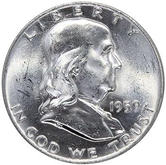 1959 D Franklin Half Dollar 50C BU
