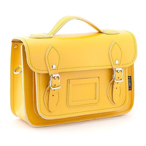 Yoshi - Bolso estilo cartera de cuero para mujer Amarillo Mustard: Amazon.es: Zapatos y complementos