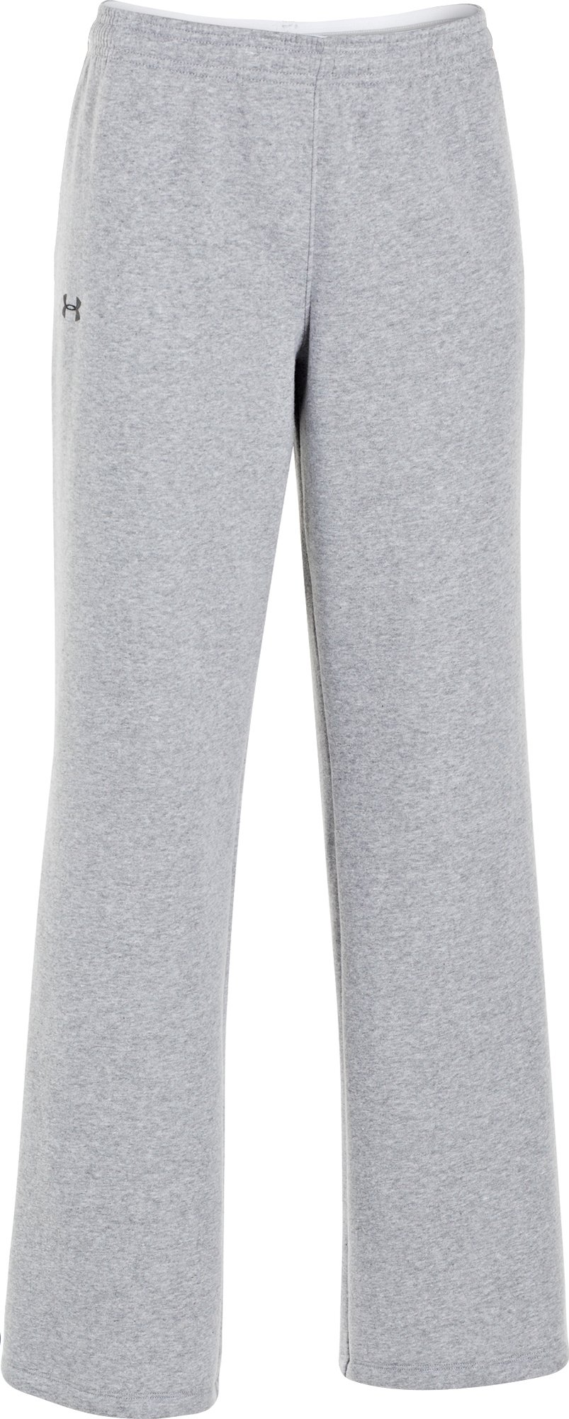 Under Armour Women's UA Team Rival Fleece Pants, True Gray Heather/Black, Large by Under Armour (Image #1)