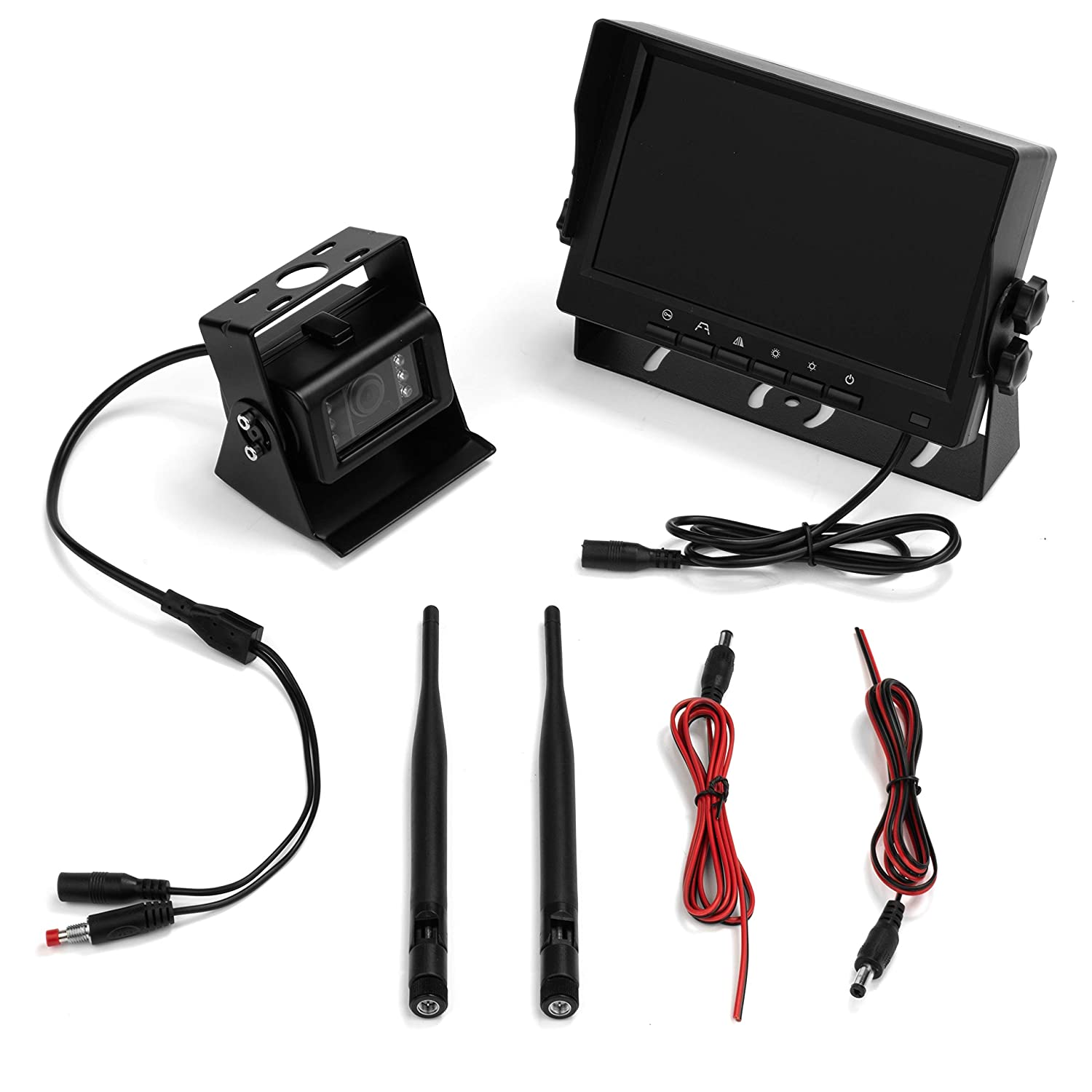 """Installation Friendly Design SUV and Van Wireless Vehicle AHD Backup Camera System with 7/"""" Monitor and Backup Camera for Car BOYO VTC700AHD Truck"""