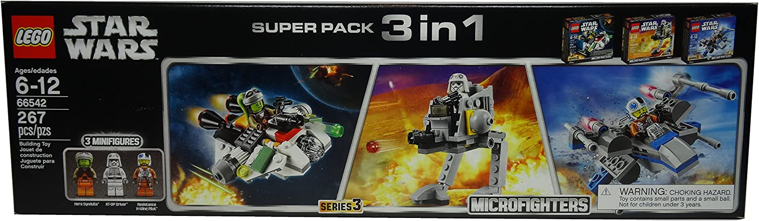 LEGO Star Wars Microfighters Super Pack 3 in 1 Exclusive Set #66542