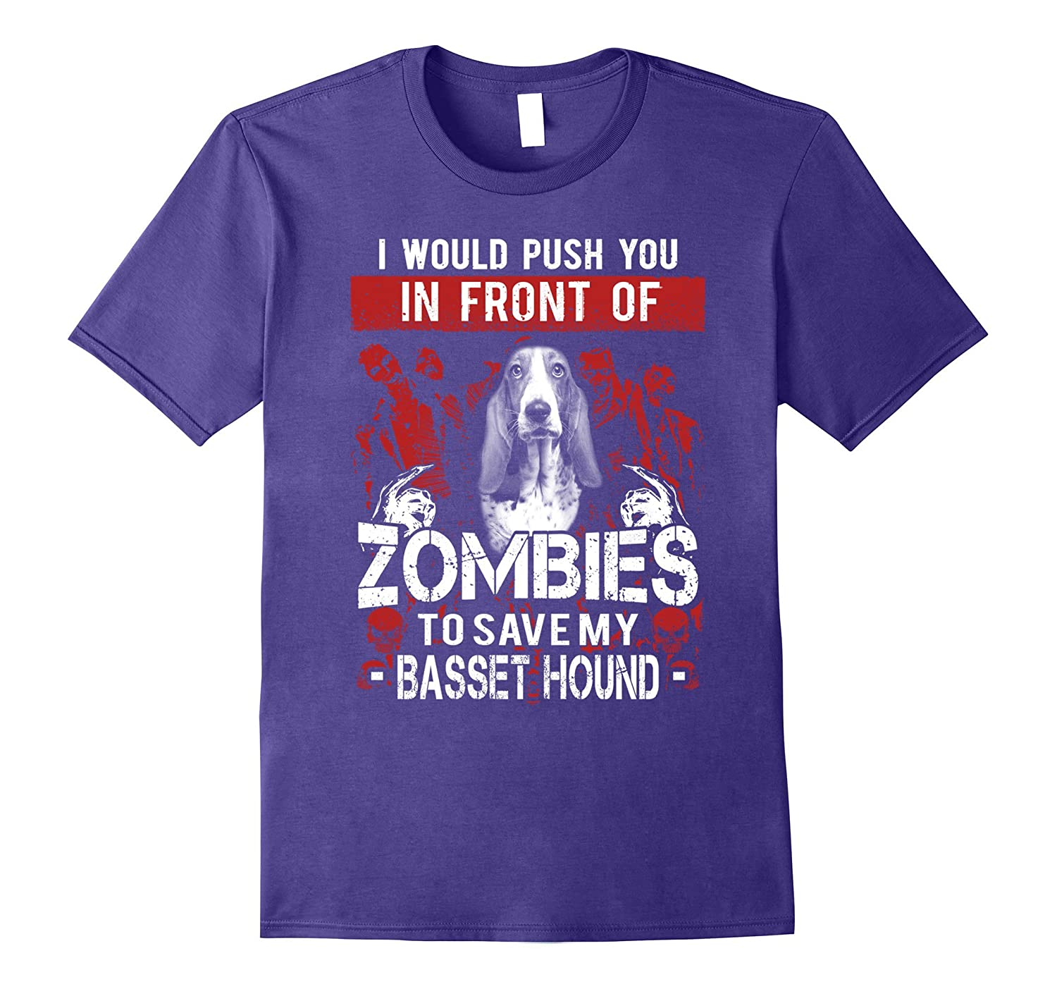 Zombies To Save My Basset Hound - Basset Hound shirt-TH