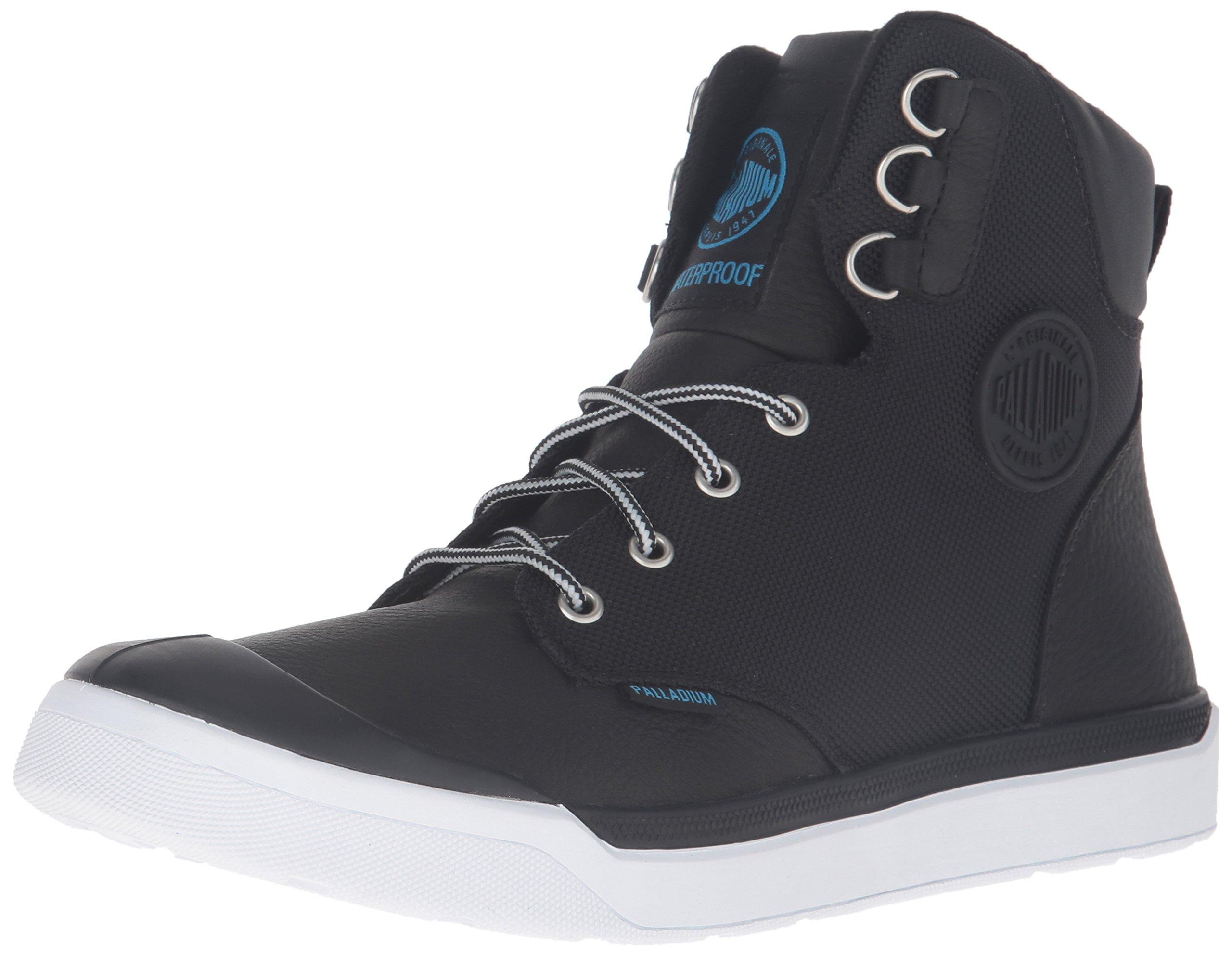 Palladium Men's Pallarue HI Cuff WP Rain Boot, Black, 8 M US