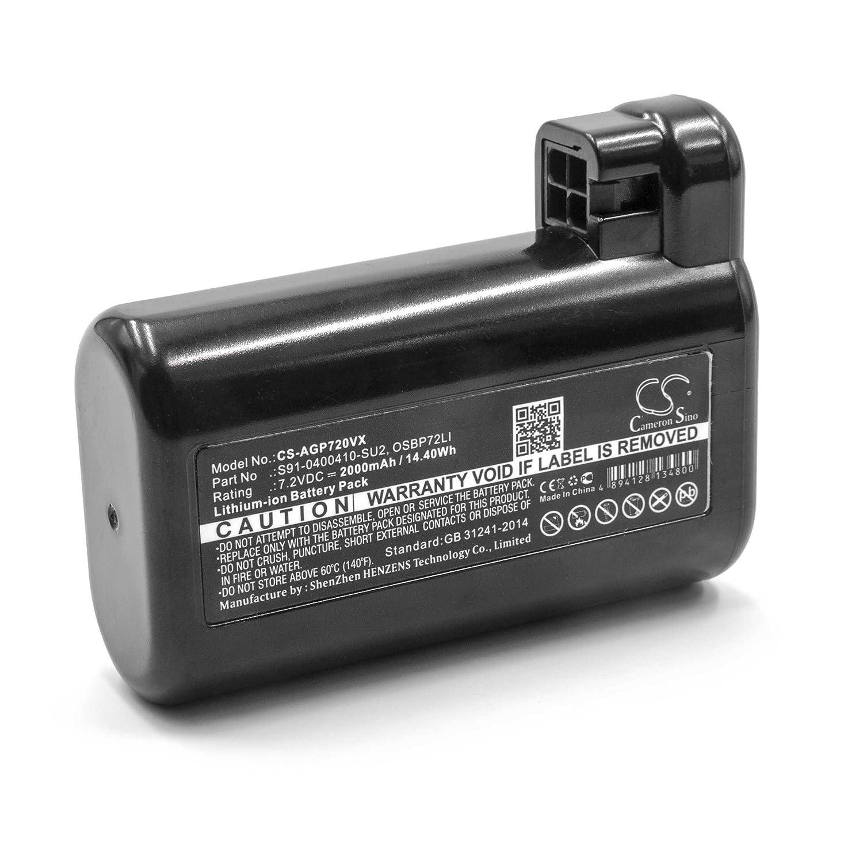 vhbw Li-Ion batería 2000mAh (7.2V) para robot limpiasuelos robot autónomo de limpieza como AEG/Electrolux OSBP72LI: Amazon.es: Hogar