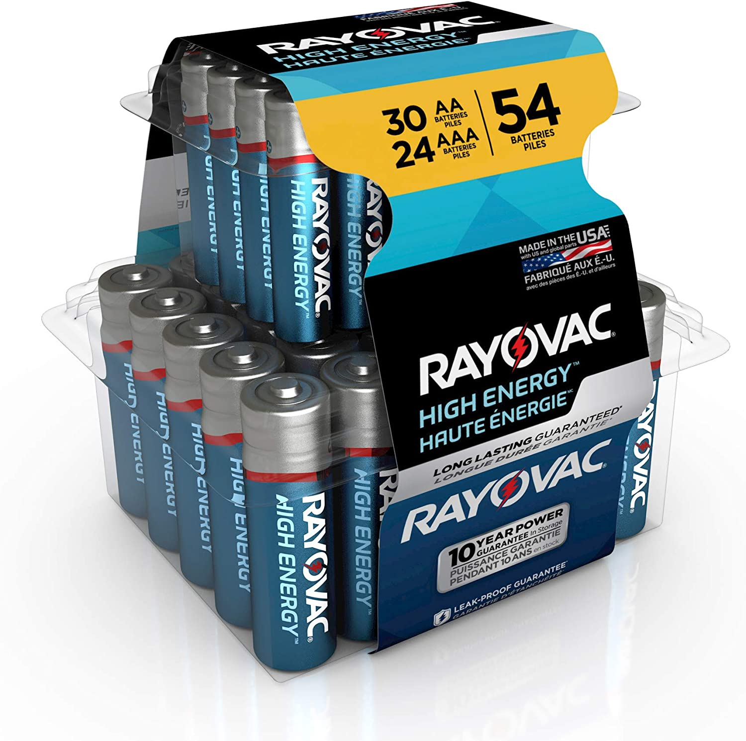 Rayovac AA Batteries & AAA Batteries Combo Pack, 30 AA and 24 AAA (54 Battery Count) (AL-54PP): Home Improvement