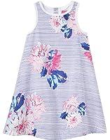 Joules Infant Woven Dress and Pant Set - Chalk Posy Stripe