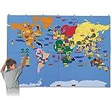 布製 ジャンボ世界地図 (英語版)