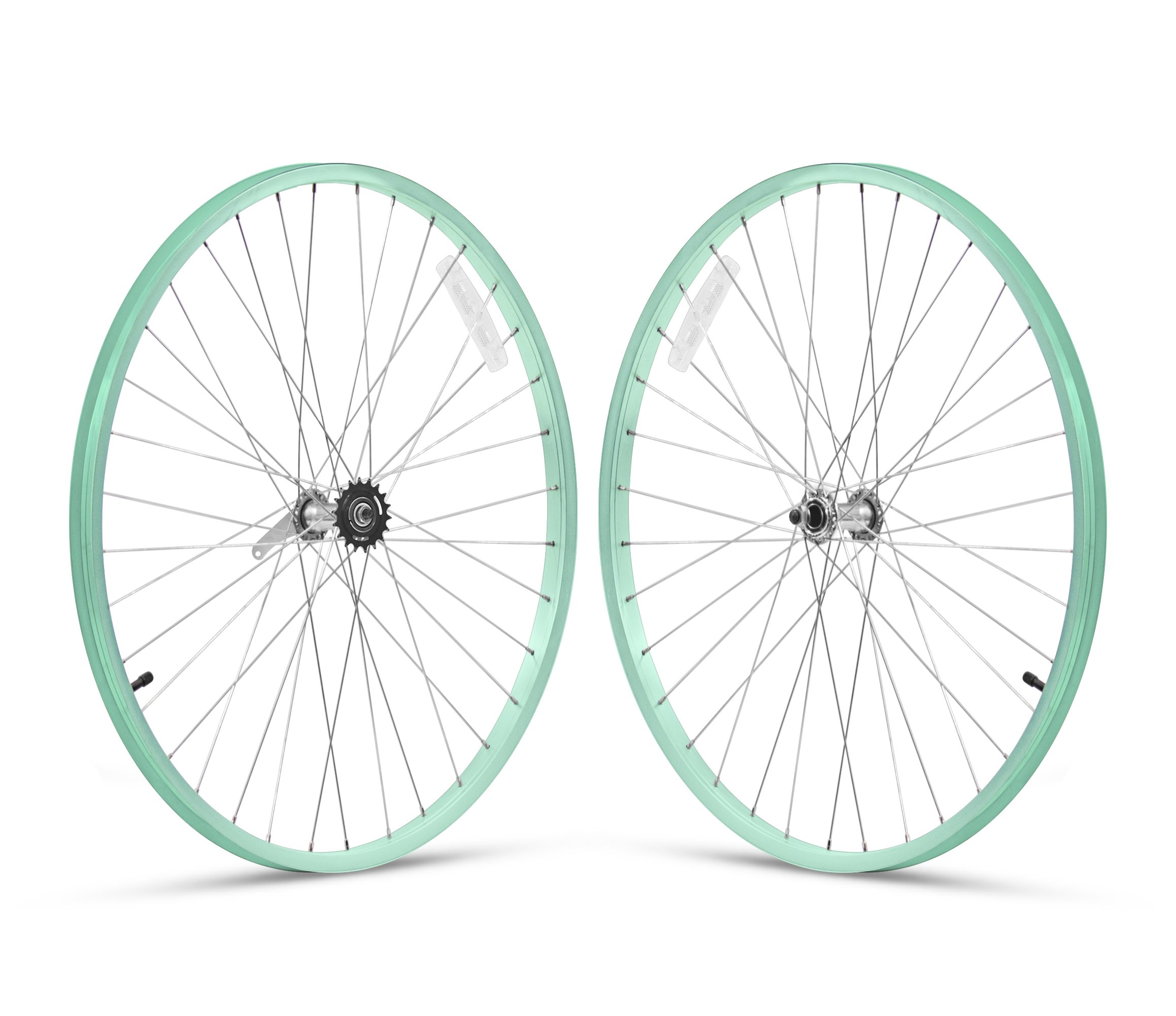 Firmstrong 1-Speed Beach Cruiser Bicycle Wheelset, Front/Rear, Mint Green, 26''