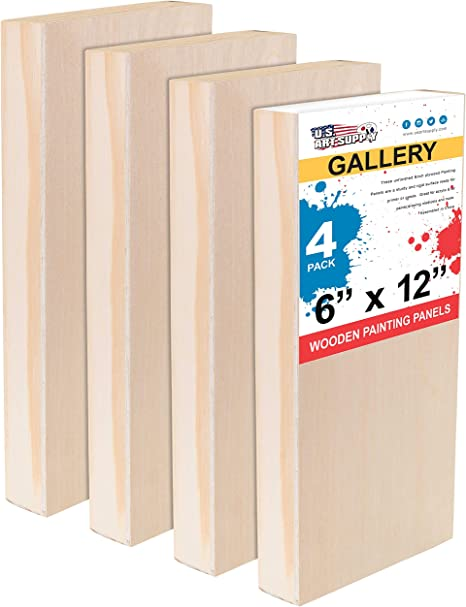 Gallery 1-1//2 Deep Cradle Oil Art Supply 20 x 24 Birch Wood Paint Pouring Panel Boards Painting Mixed-Media Craft Pack of 2 U.S Acrylic - Artist Depth Wooden Wall Canvases Encaustic