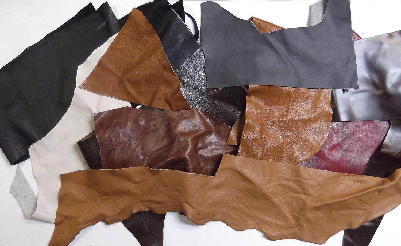 LeatherUnltd Upholsteryレザーピース、2 – 3 oz、アソートカラー、3 kgバッグ B00B1DJGOQ